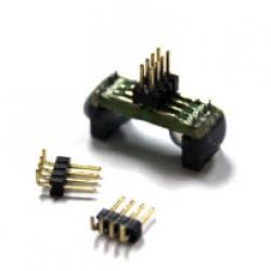 Adaptor (SO8) with 2x4 1.27mm Male Header EM-AD-SOK-BK-8W