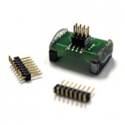 Adaptor (SO16W) with 2x4 1.27mm Male Header EM-AD-SOK-BK-16W