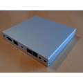 Enclosure 2 LAN USB aluminum case1d1u