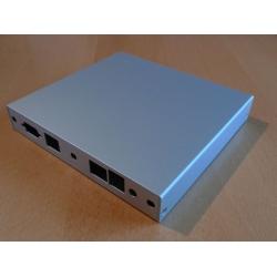 Enclosure 2 LAN USB aluminum case1d1u