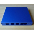 Enclosure 3 LAN USB blue case1d2bluu