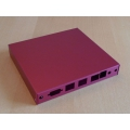 Enclosure 3 LAN USB red for alix2 case1d2redu