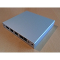 Enclosure 3 LAN USB aluminum case1d2u